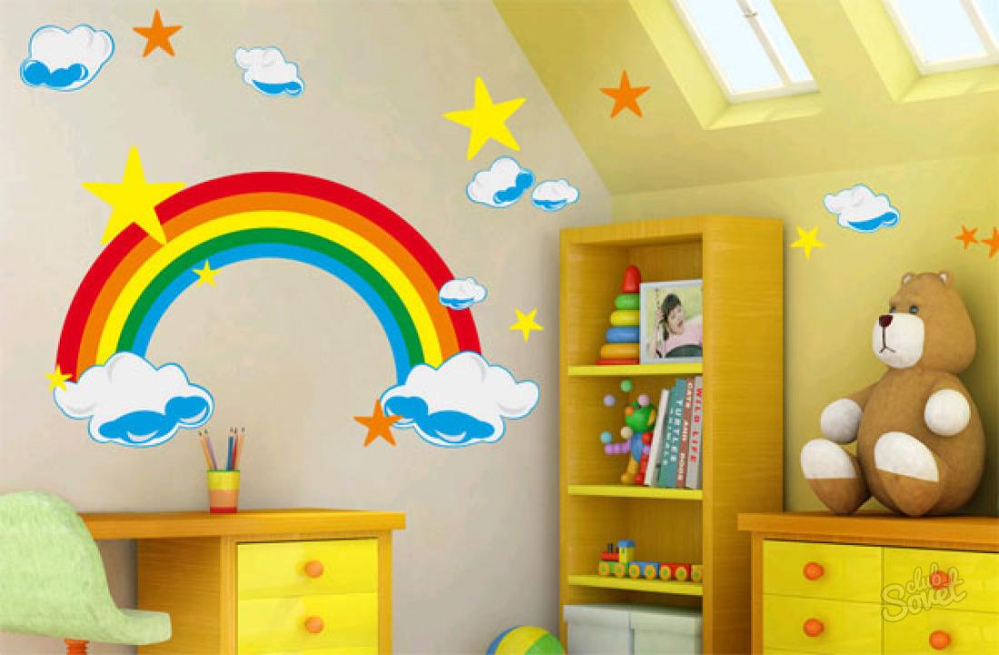 Как разукрасить детскую комнату своими руками 9