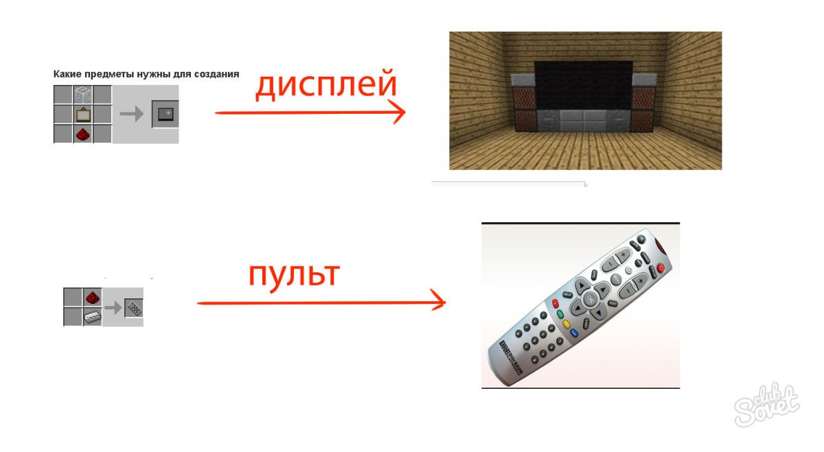 Как сделать в майнкрафте сделать телевизор