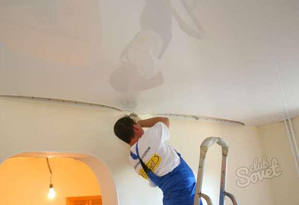 Как натянуть натяжной потолок своими руками фото
