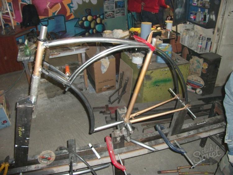 Ремонт рамы велосипеда своими руками