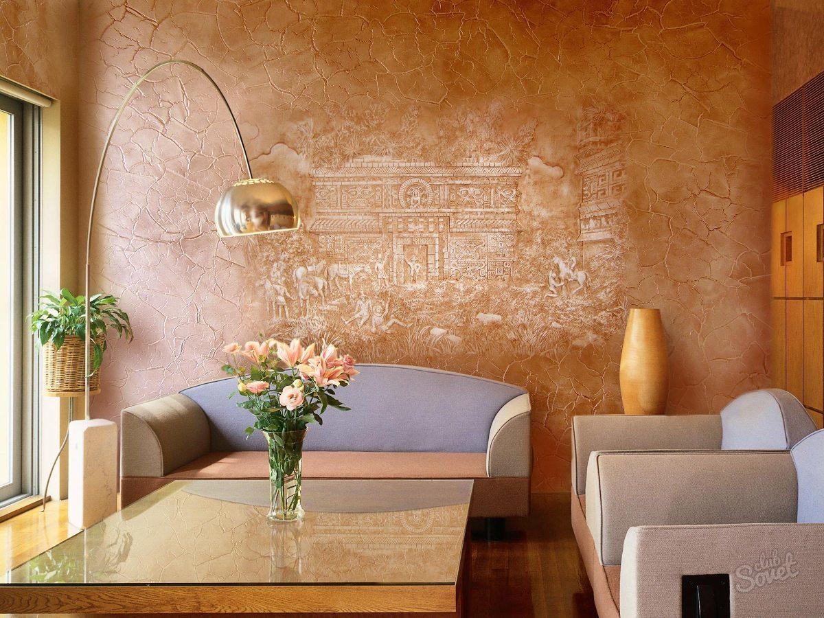 Декоративная отделка стен штукатуркой своими руками
