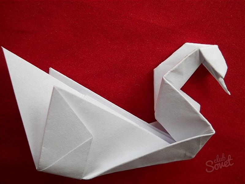 Оригами лебеди как делать