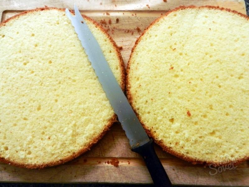 стенки как ровно разделить бисквит на коржи шашлыка