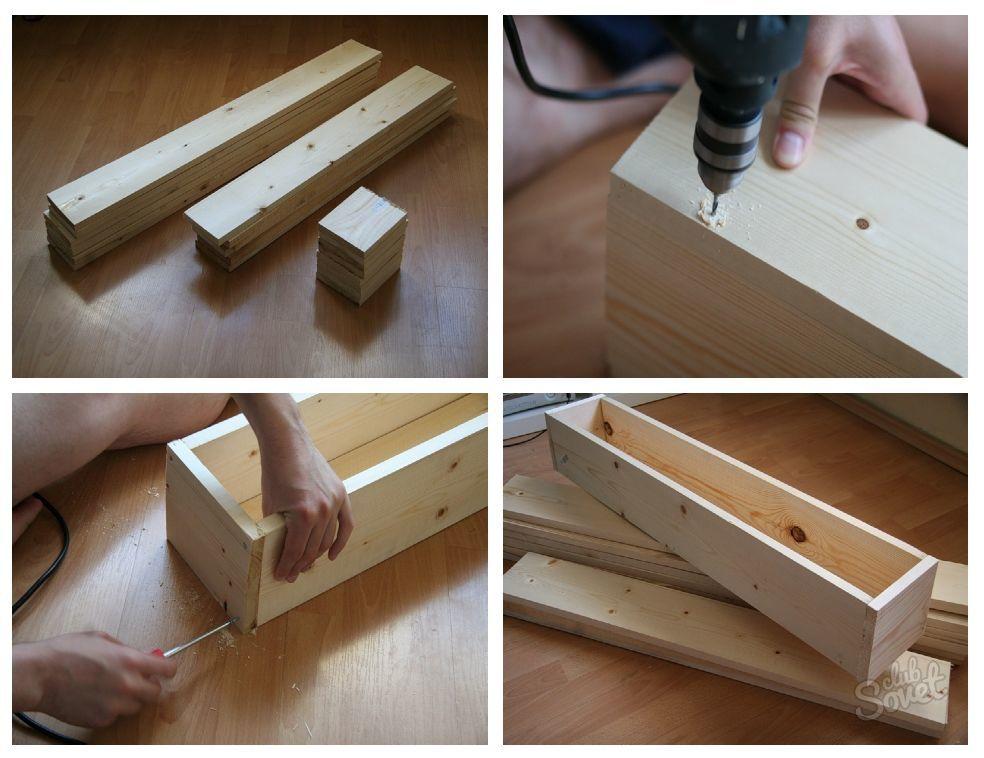 Сделать ящик для цветов своими руками из дерева