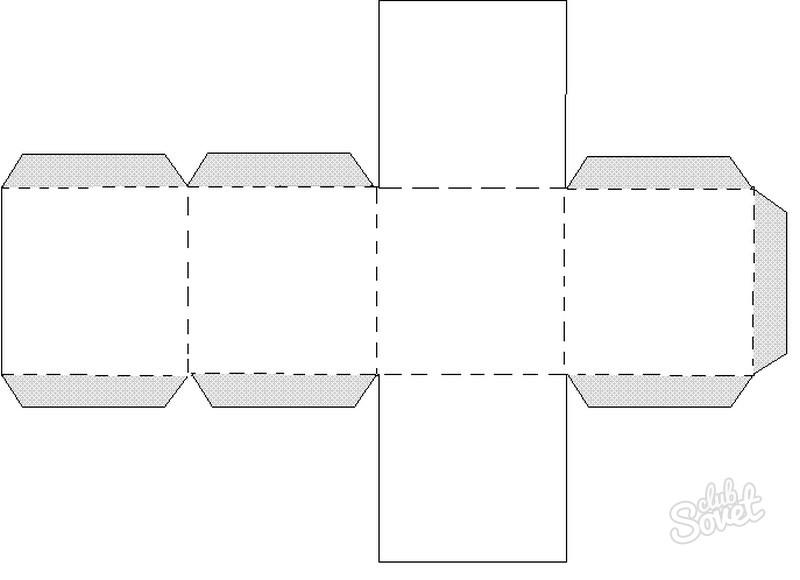 Как сделать куб из бумаги схема распечатать
