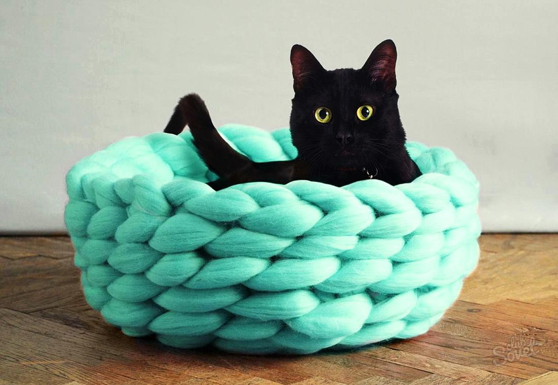 Лежанка для кота своими руками из подручных материалов 85