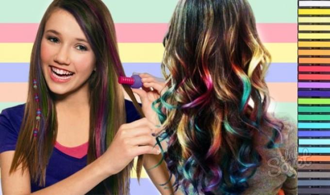 Прически с цветными прядями для подростков