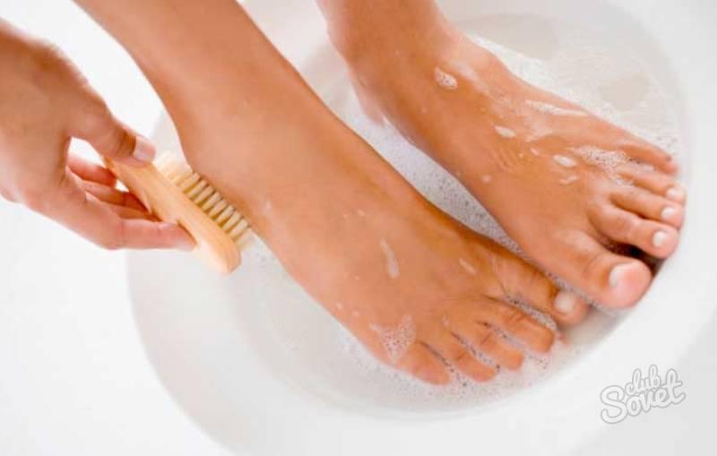 Ванночки для ног от грибка ногтей с уксусом и