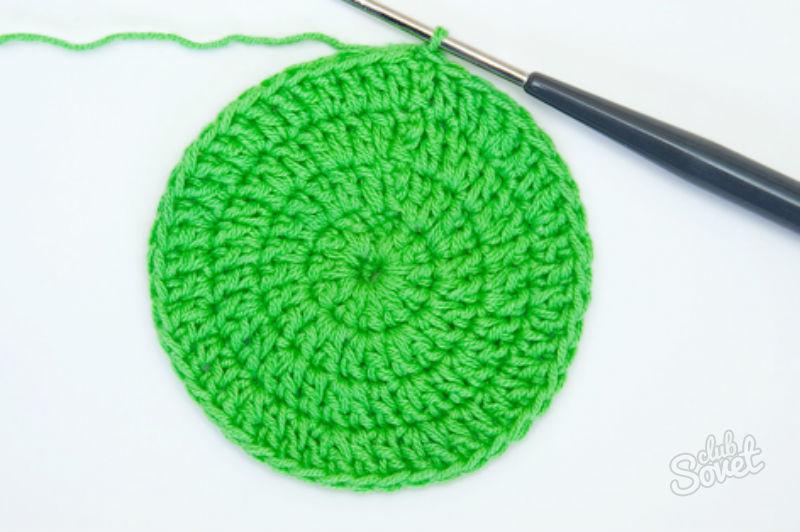 Вязание крючком по кругу разными цветами 60