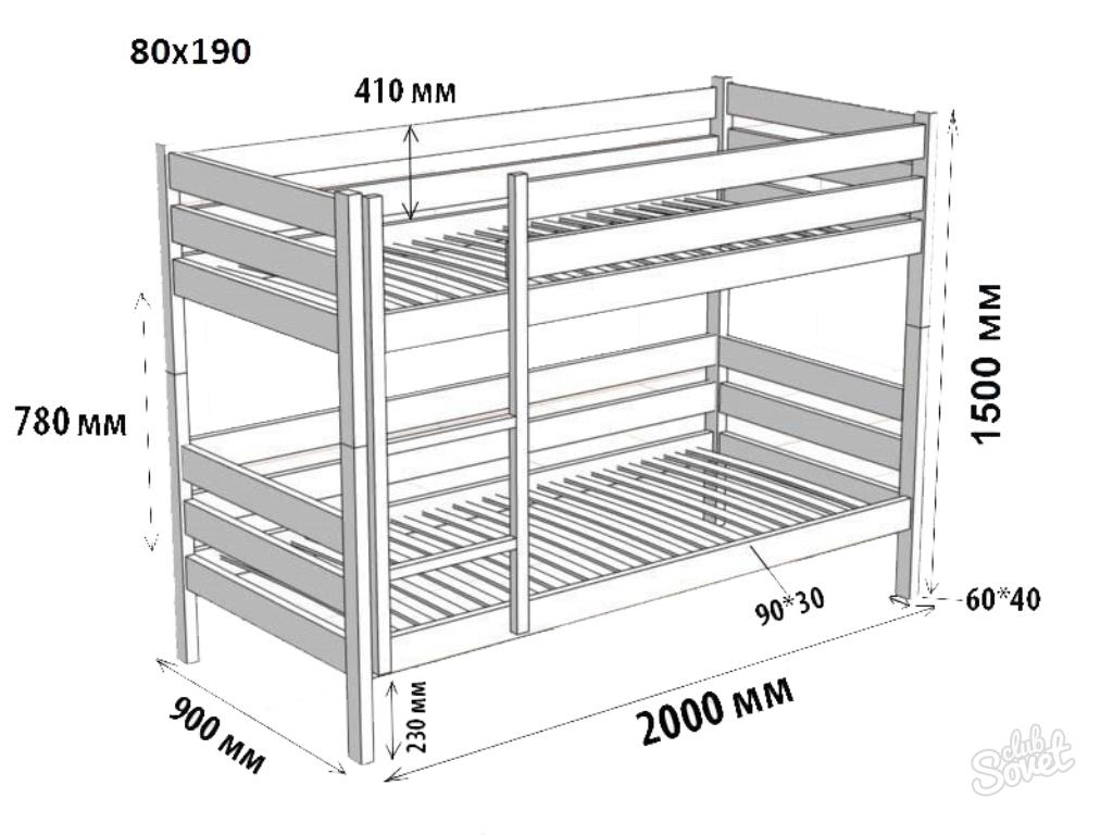 Схема двухъярусная кровать своими руками 93