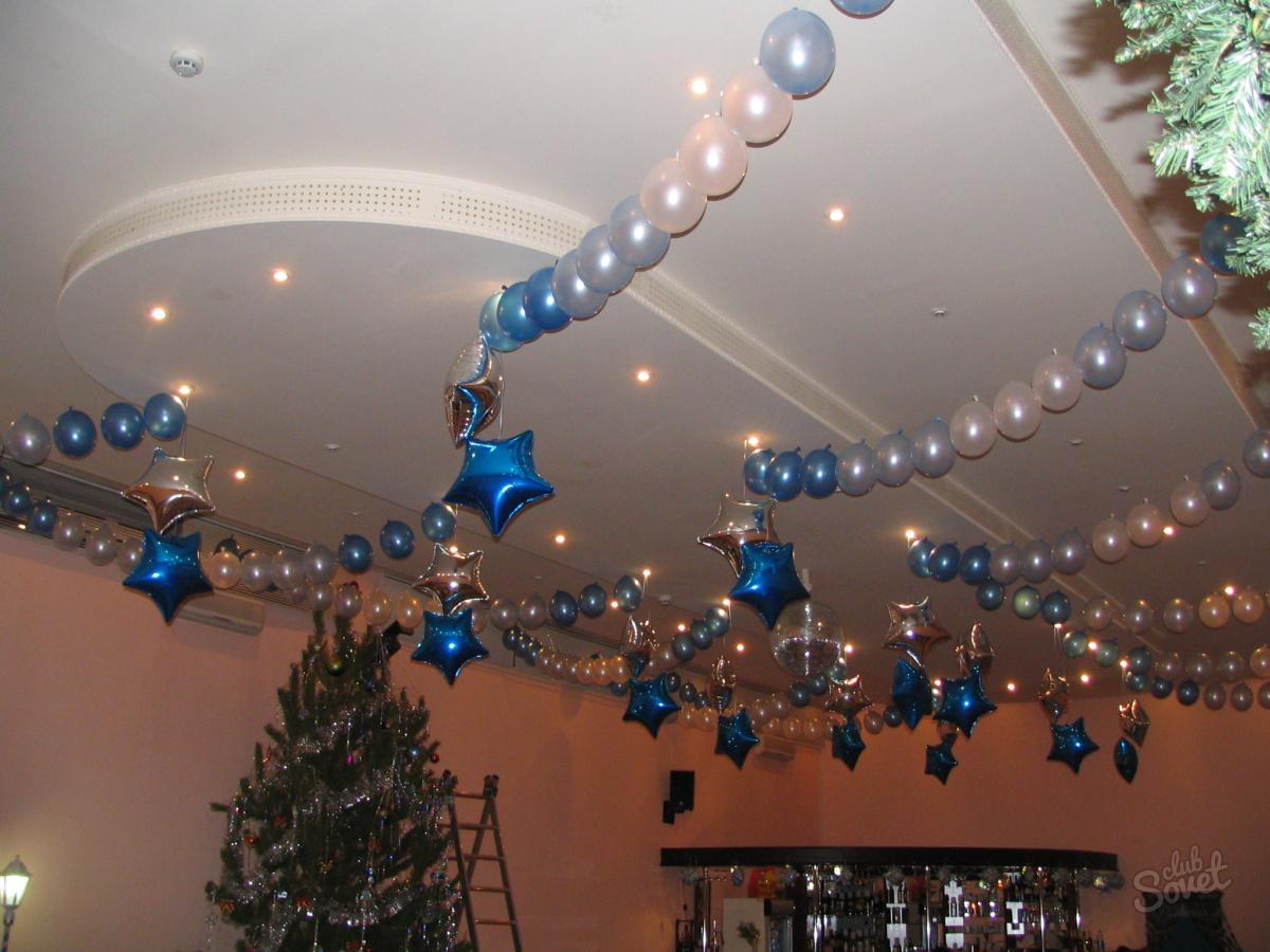 Украшения на потолке на новый год