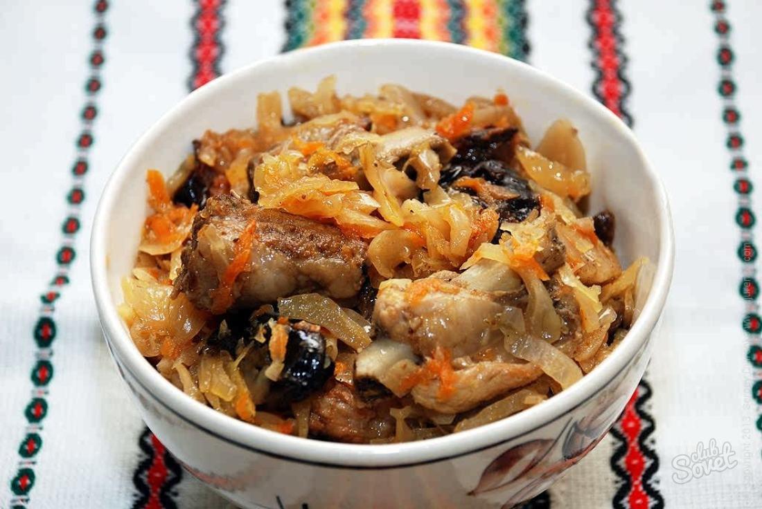 Бигус со свининой и свежей капустой рецепт с пошагово
