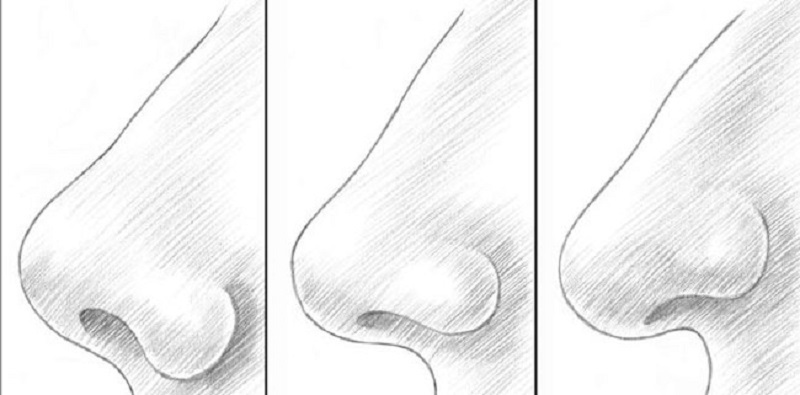 Как рисовать нос человека для детей