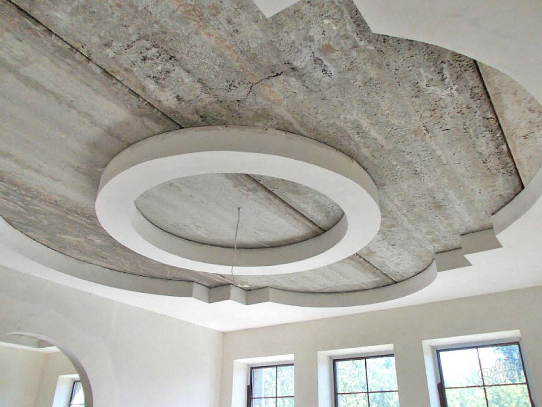 Как сделать потолок с круглыми