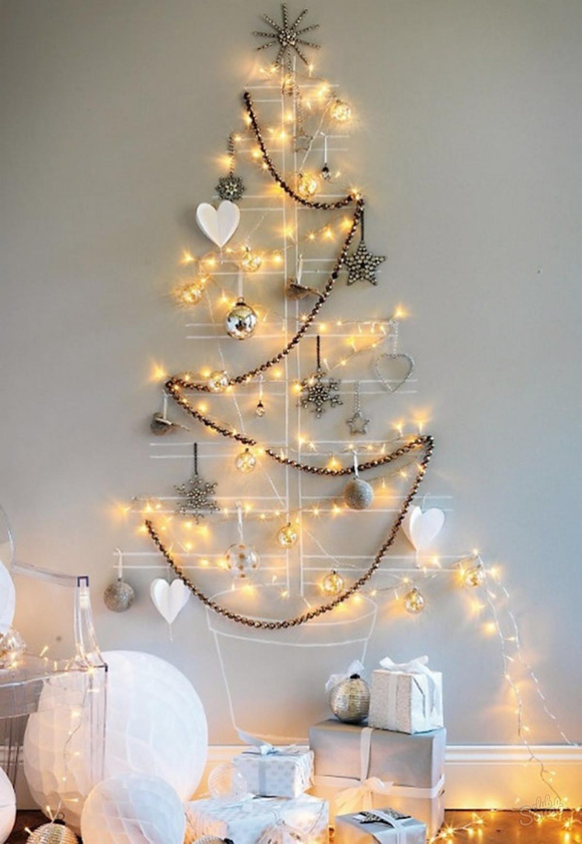 Как украсит дом на новый год своими руками