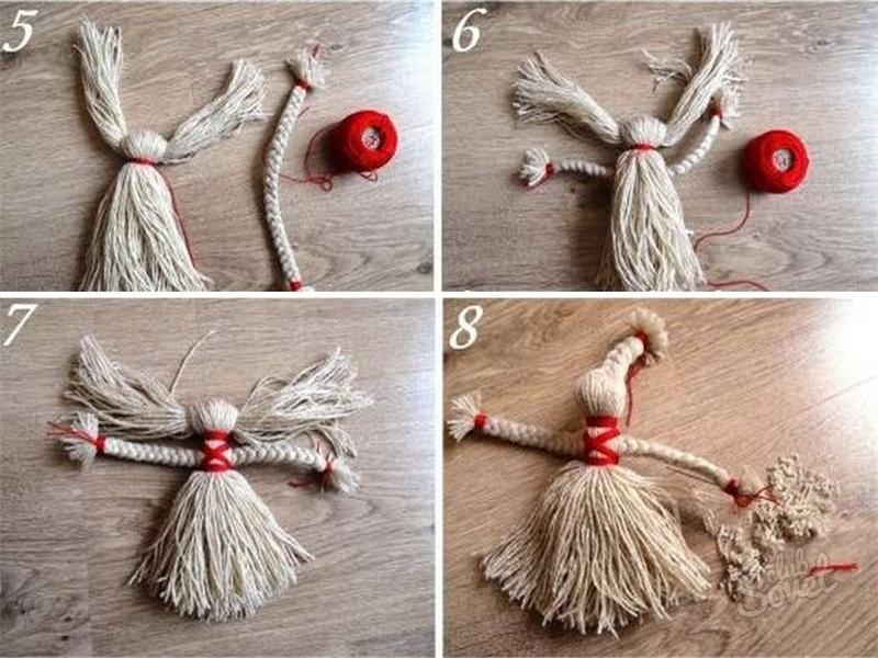 Куклы из пряжи своими руками пошагово 14