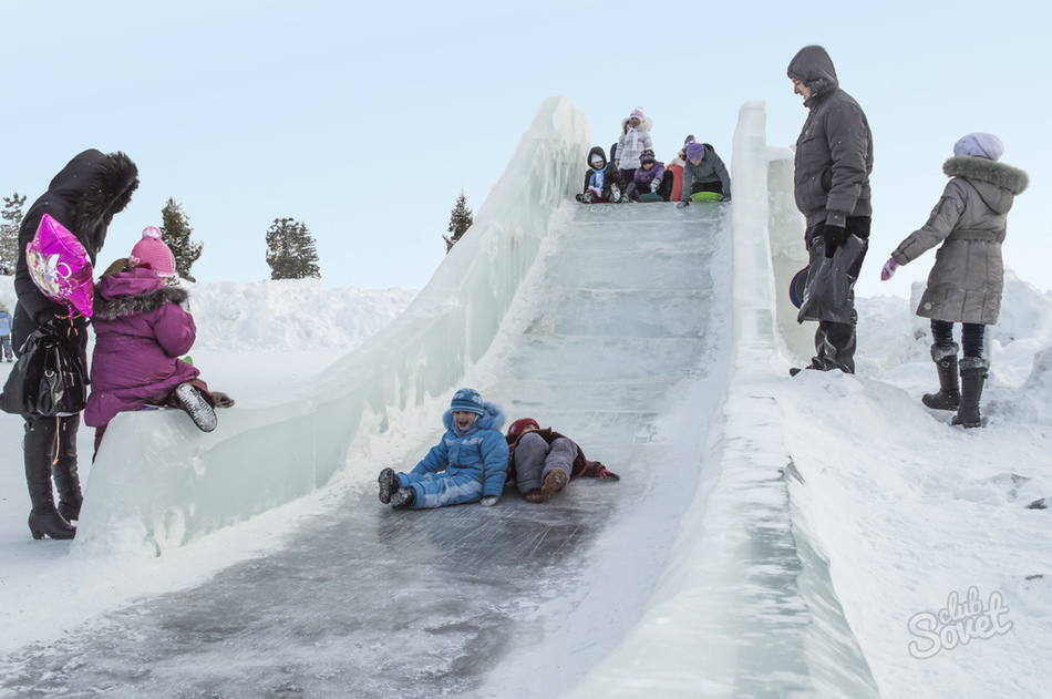 Ледяные горки своими руками 643