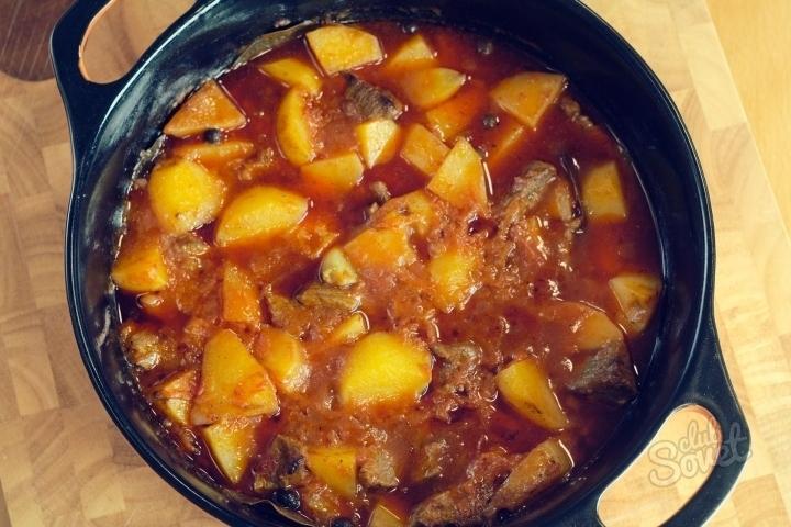 Как приготовить мясо с картошкой тушеное в мультиварке рецепты