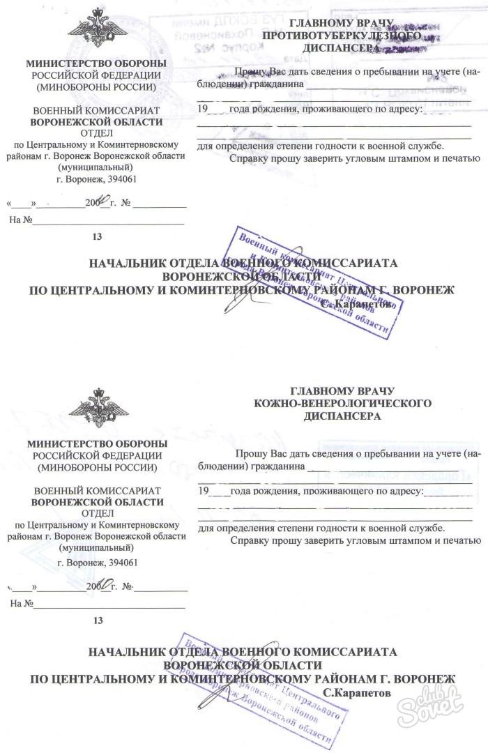 выписка из протокола призывной комиссии образец