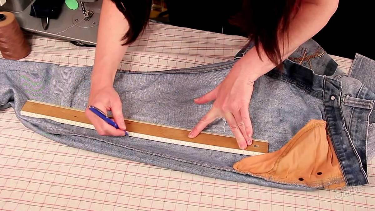 Как увеличить размер брюк своими руками 12