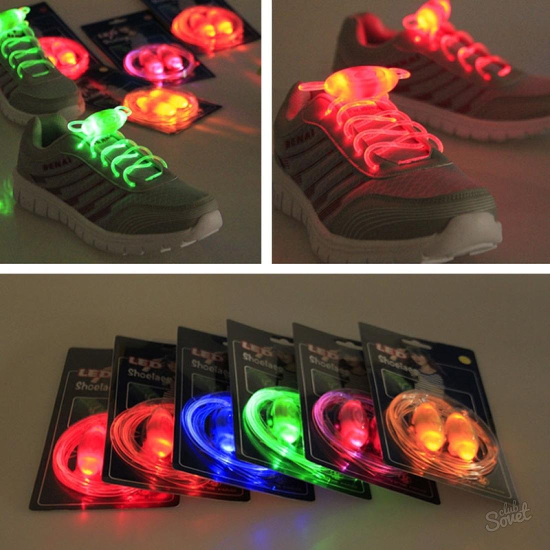 Светящейся шнурки своими руками