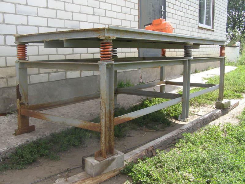 Как сделать вибростол для тротуарной плитки в домашних