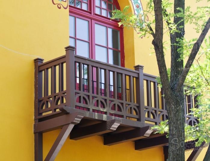 Как сделать деревянный балкон. устройство деревянного балкон.