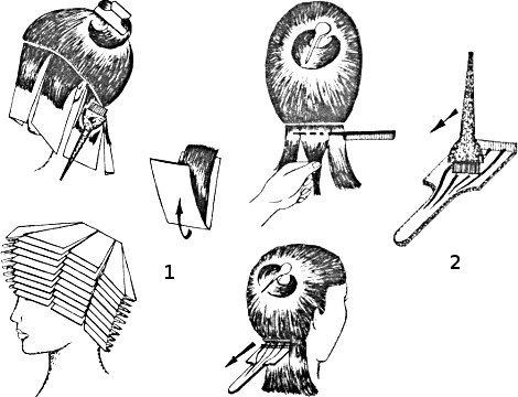 Способы мелирования волос схемы