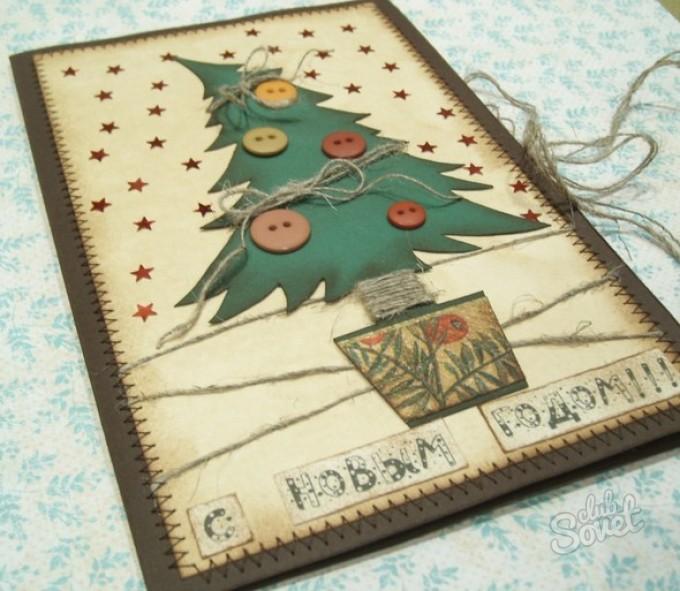 Оригинальные открытки для нового года своими руками