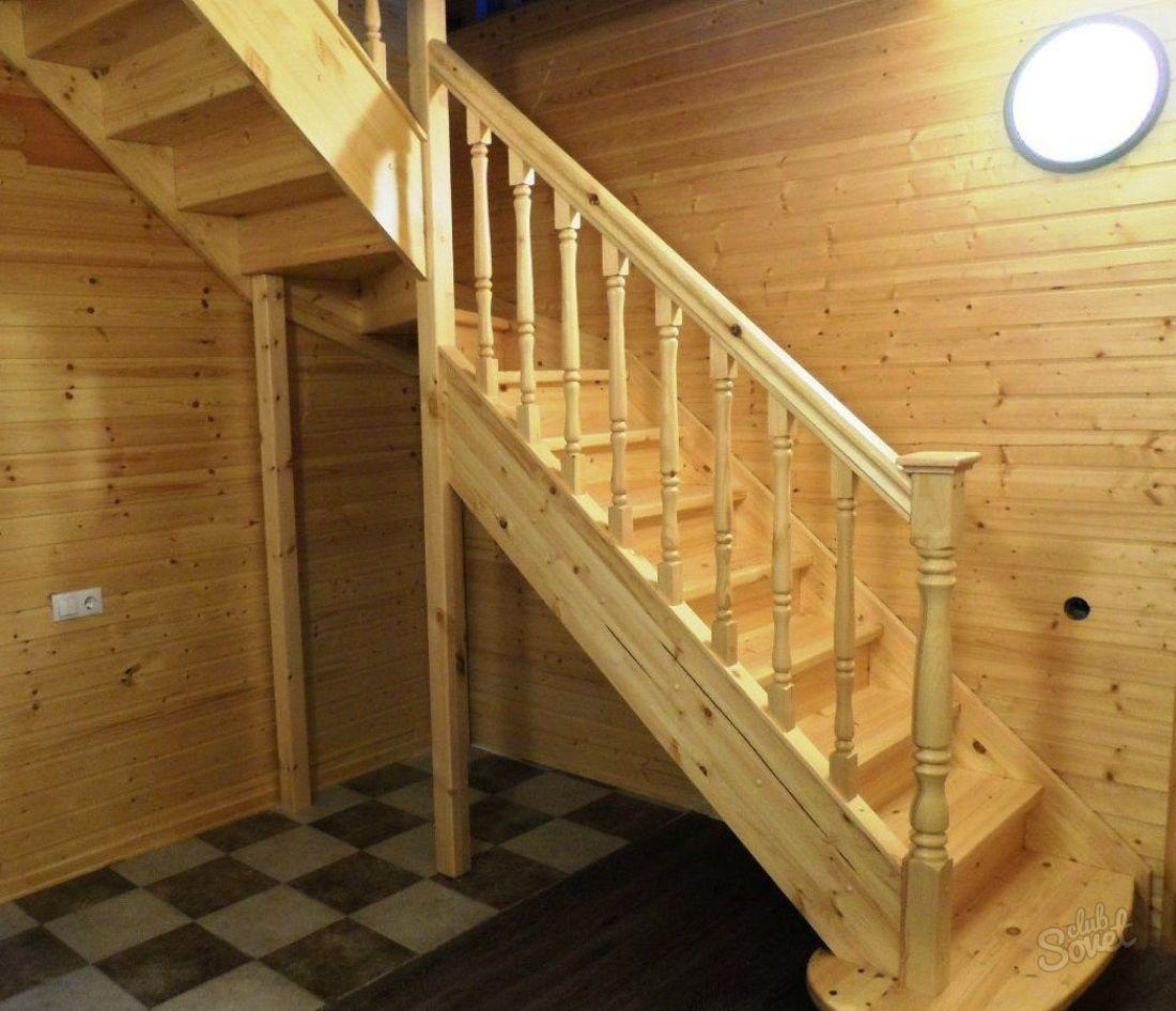 Деревянные лестницы на второй этаж своими руками с поворотом на 90 цены 71