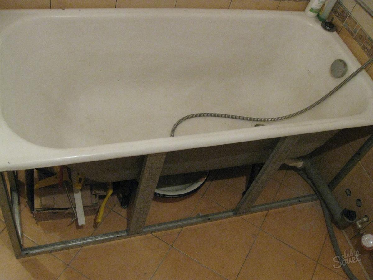 Из картона меУстановка каркаса акриловой ванны своими