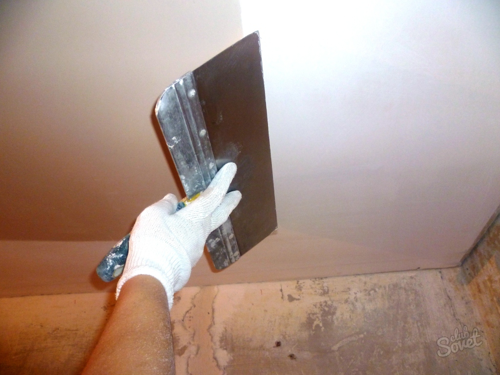 Шпаклевка стен и потолка своими руками с видео