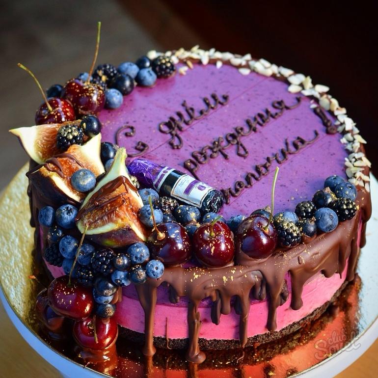 Украсить торт любимому своими руками 86