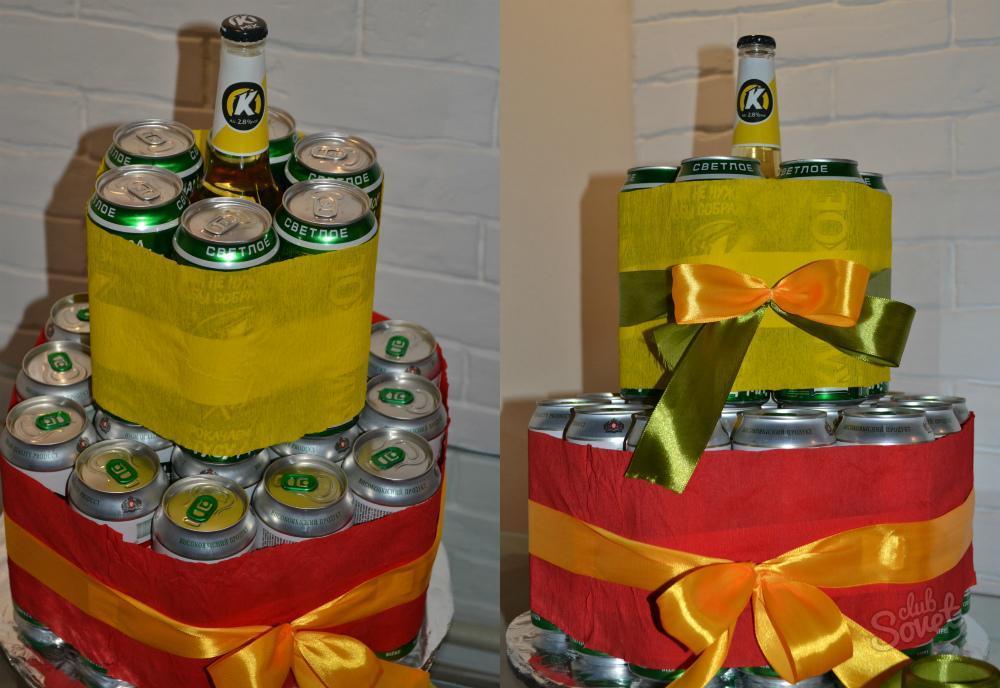 Торт для мужчины из банок пива своими руками 909