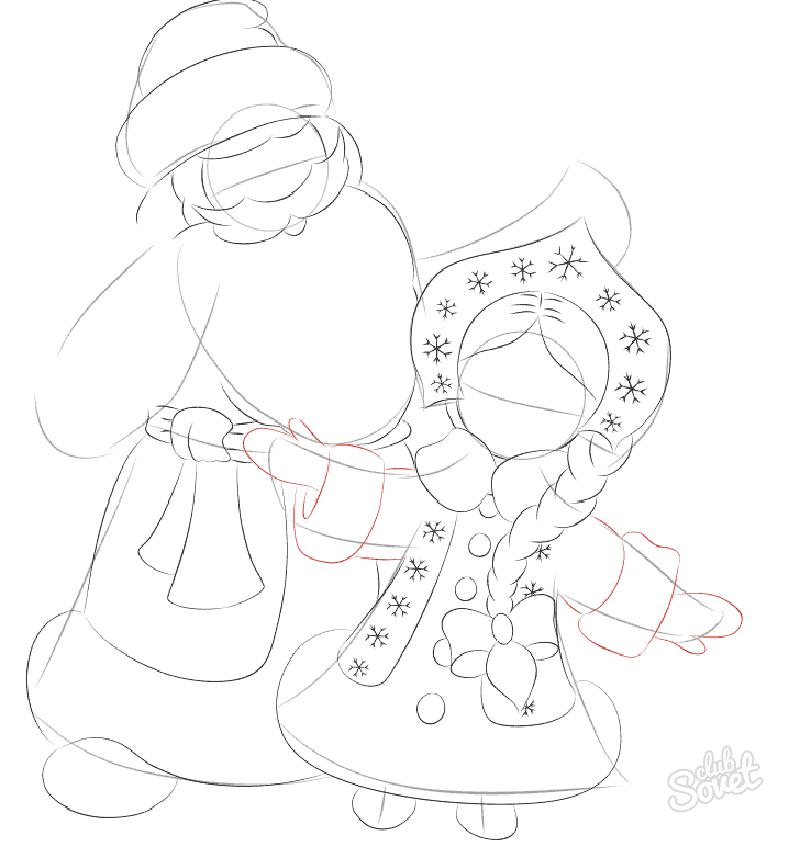 Рисунок для деда мороза своими руками 2