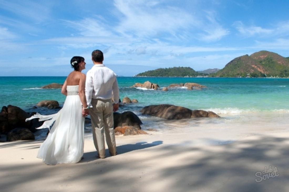 Honeymoon island beach wedding