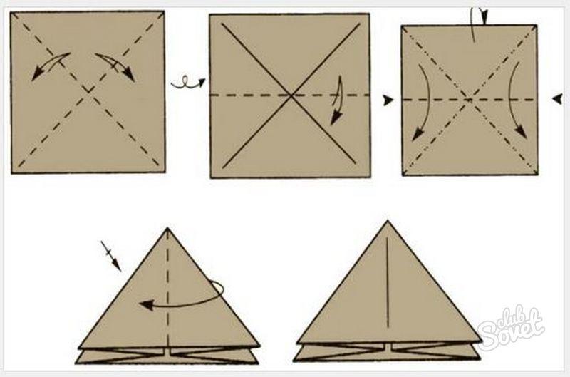 Оригами из бумаги треугольниками схемы