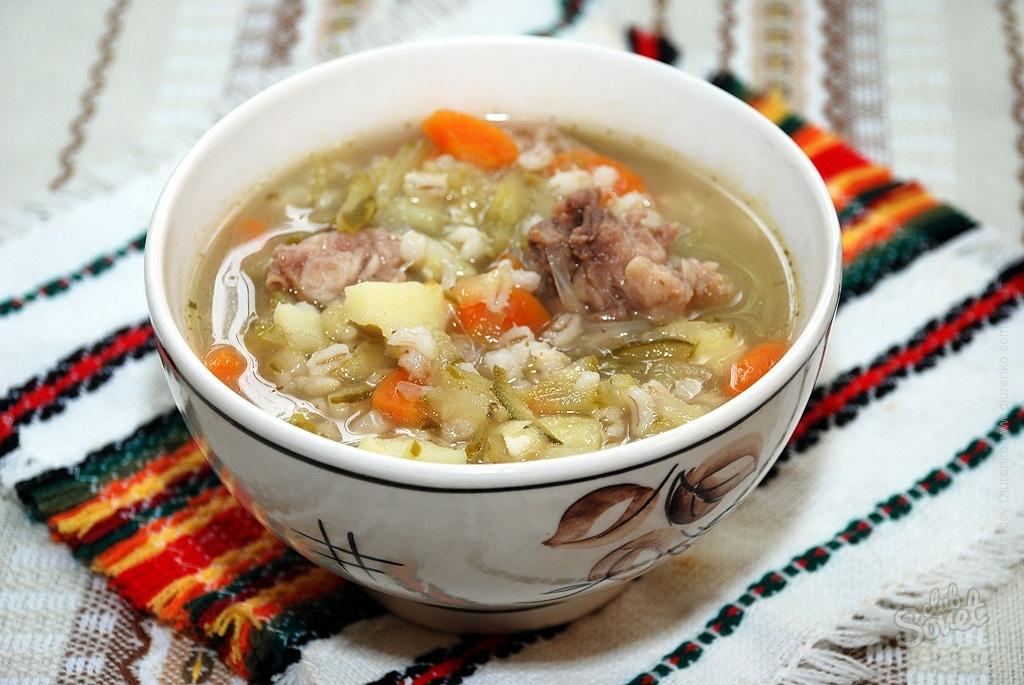 Суп рассольник с курицей и перловкой рецепт с фото пошагово
