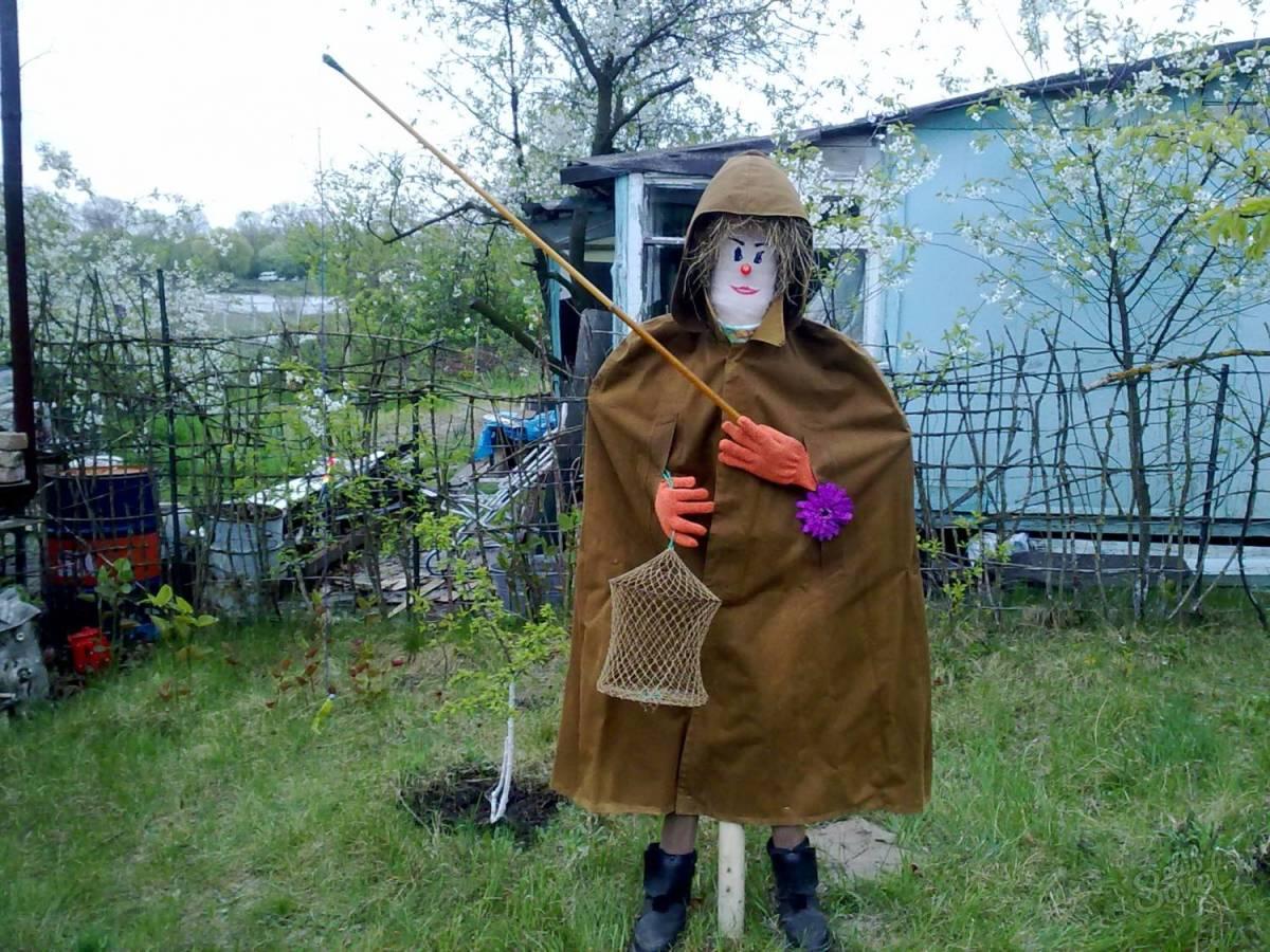Как сделать огородное чучело - пугало