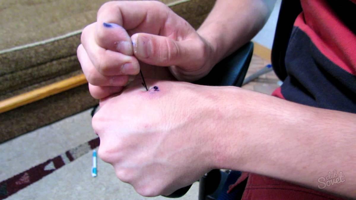 Как самой набить тату иголкой