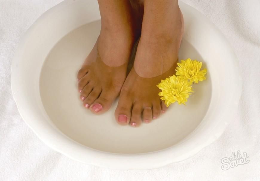 Ванночка для ног из нашатыря