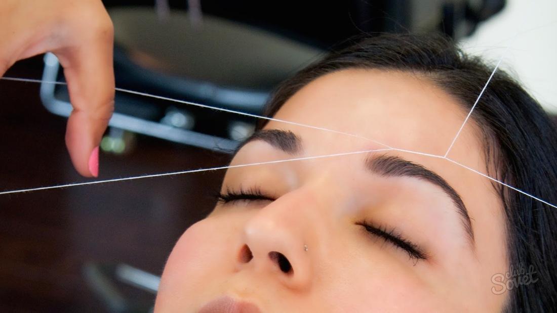 Как выщипывать брови ниткой. Коррекция бровей нитью. Качественно подкорректировать форму бровей можно с помощью обычной нити. По