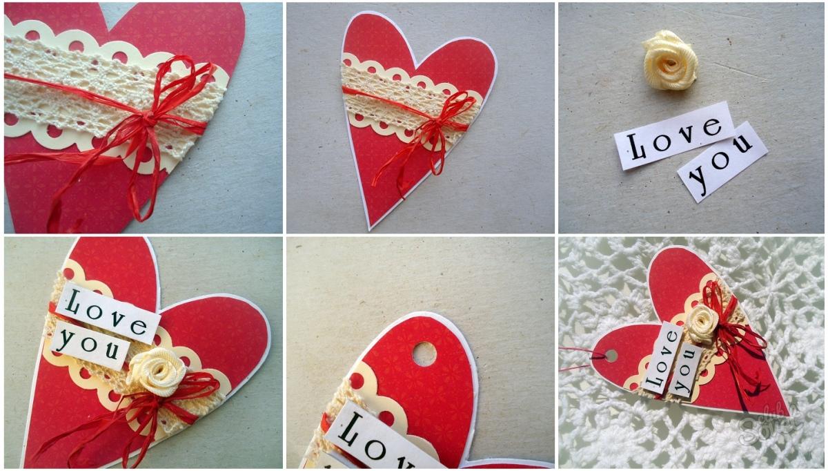Как сделать валентинку из картона