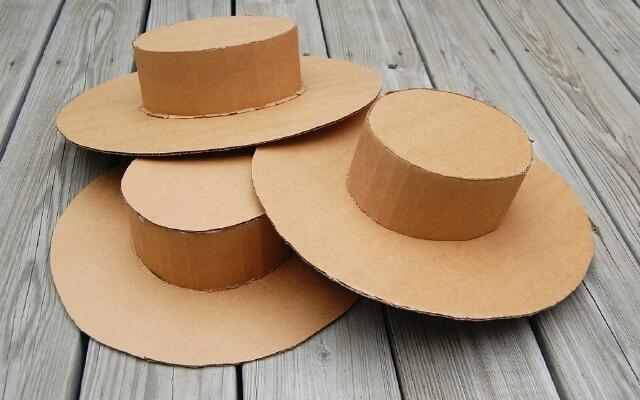 Шляпки с картона своими руками