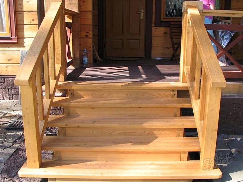 Лестница из дерева в доме своими руками
