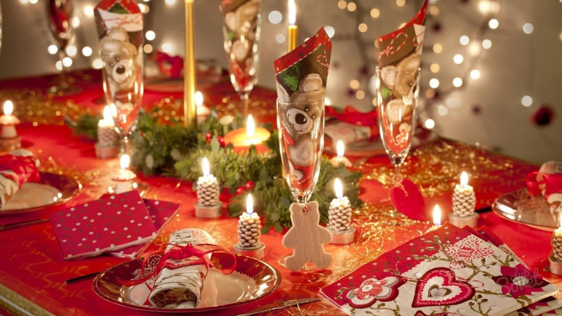 Новогодний стол сервировка своими руками