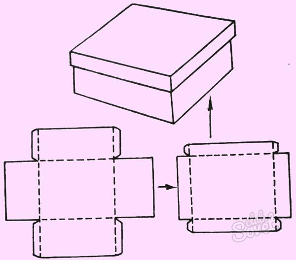 Схема коробочки из картона своими руками на