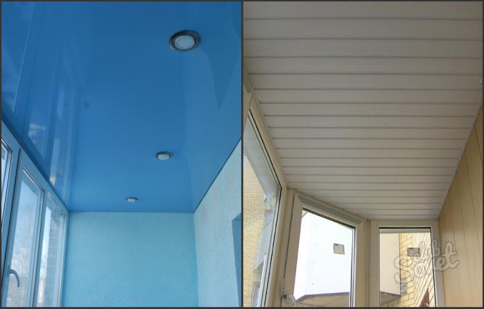 Как сделать потолок на балконе. потолок на балконе своими ру.