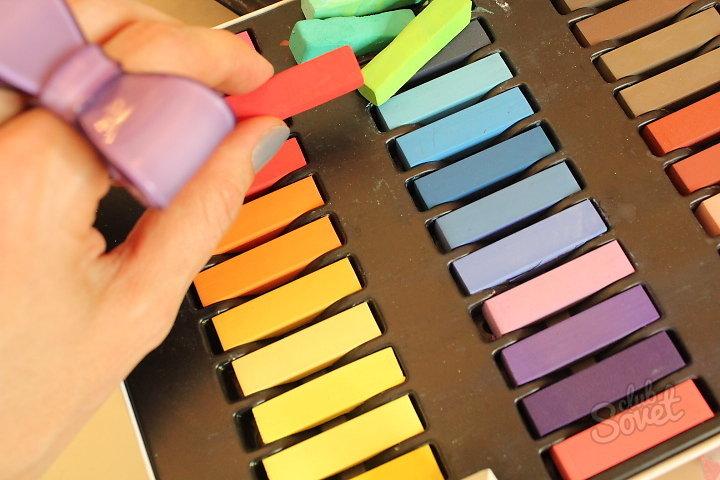 Как сделать цветную пастель
