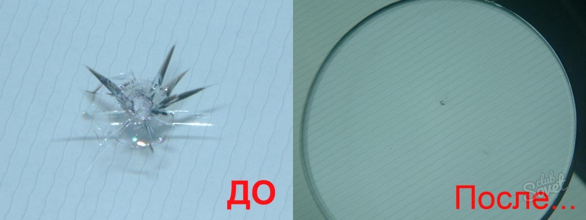 Ремонт сколов на стеклах своими руками